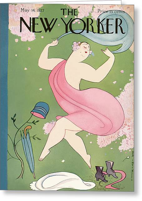 New Yorker May 14th, 1927 Greeting Card by Rea Irvin