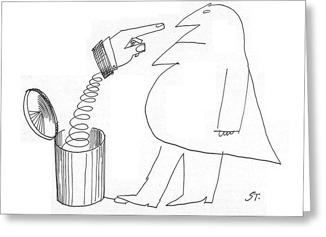 New Yorker May 14th, 1960 Greeting Card by Saul Steinberg