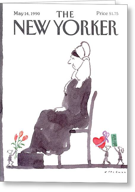 New Yorker May 14th, 1990 Greeting Card by R.O. Blechma