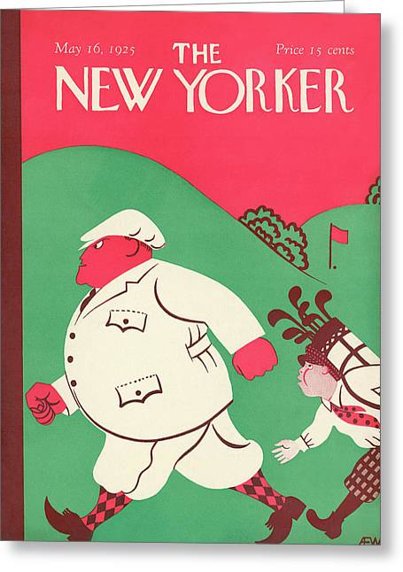 New Yorker May 16th, 1925 Greeting Card by A.E. Wilson