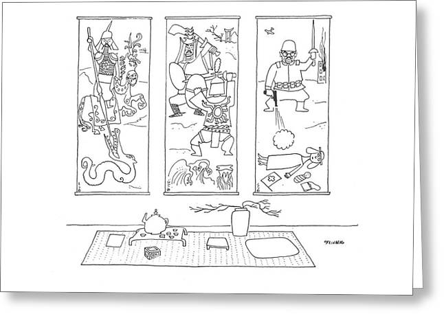 New Yorker May 16th, 1942 Greeting Card by Saul Steinberg