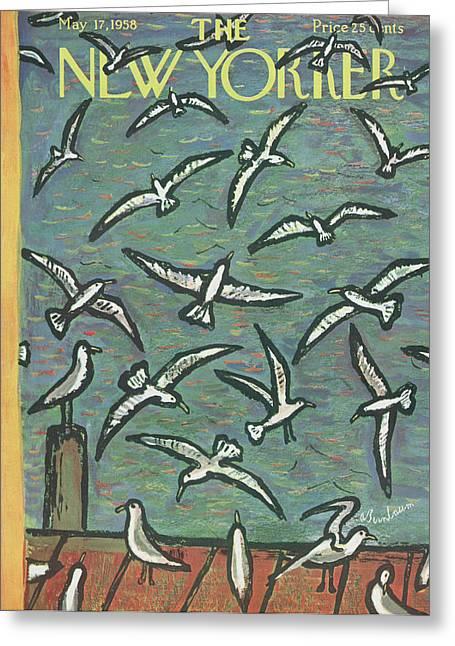 New Yorker May 17th, 1958 Greeting Card