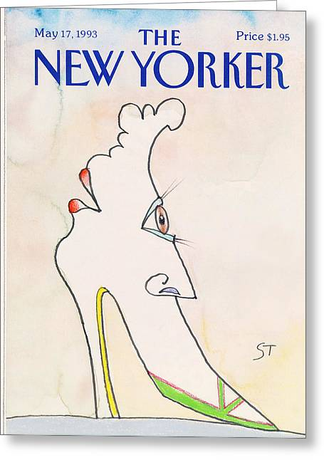 New Yorker May 17th, 1993 Greeting Card by Saul Steinberg