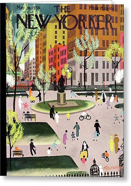New Yorker May 18th, 1935 Greeting Card by Adolph K. Kronengold
