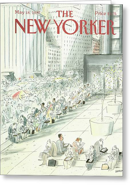 New Yorker May 18th, 1987 Greeting Card by Jean-Jacques Sempe