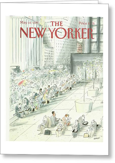 New Yorker May 18th, 1987 Greeting Card