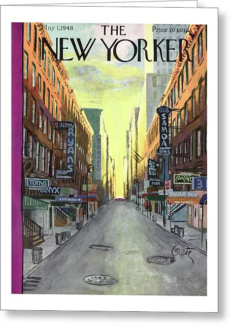 New Yorker May 1st, 1948 Greeting Card