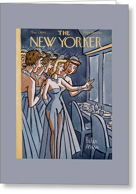 New Yorker May 1st, 1954 Greeting Card by Peter Arno