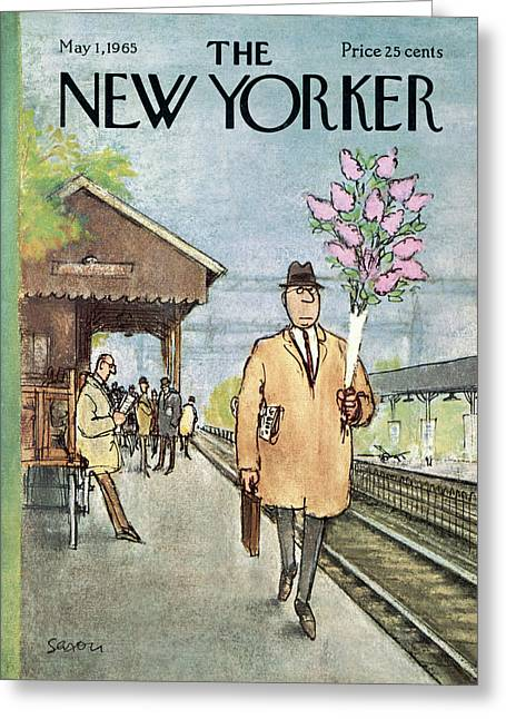 New Yorker May 1st, 1965 Greeting Card