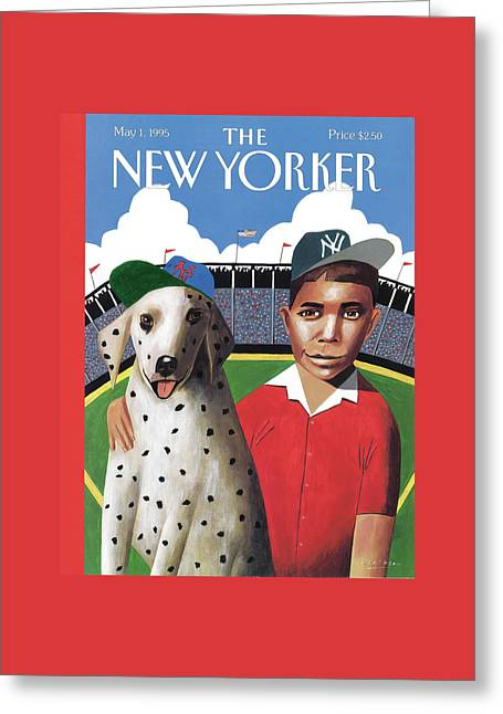 New Yorker May 1st, 1995 Greeting Card by Mark Ulriksen