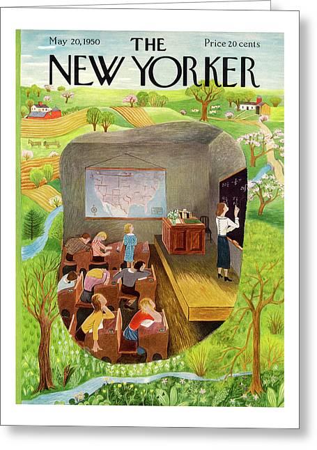 New Yorker May 20th, 1950 Greeting Card