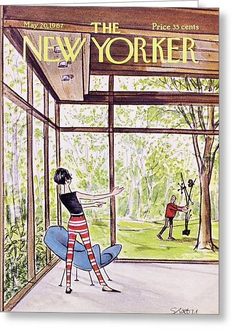 New Yorker May 20th 1967 Greeting Card