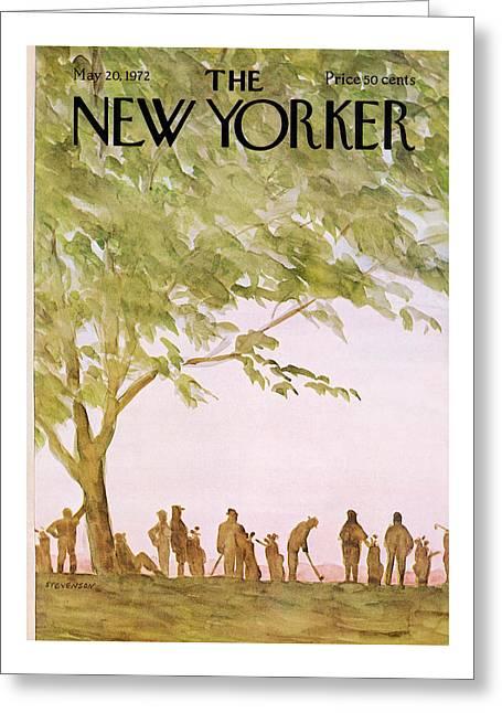 New Yorker May 20th, 1972 Greeting Card