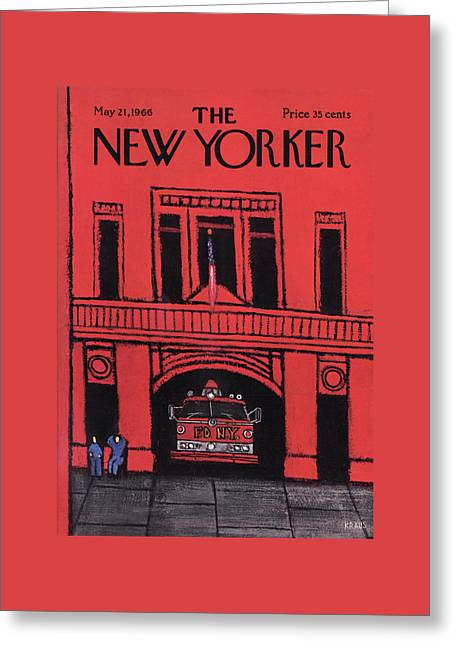 New Yorker May 21st, 1966 Greeting Card by Robert Kraus