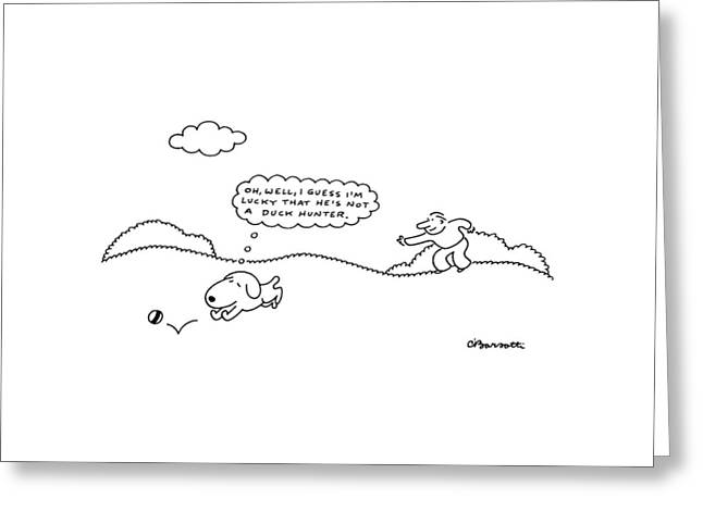 New Yorker May 23rd, 1988 Greeting Card by Charles Barsotti