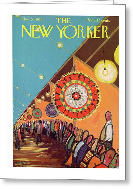 New Yorker May 24th, 1958 Greeting Card