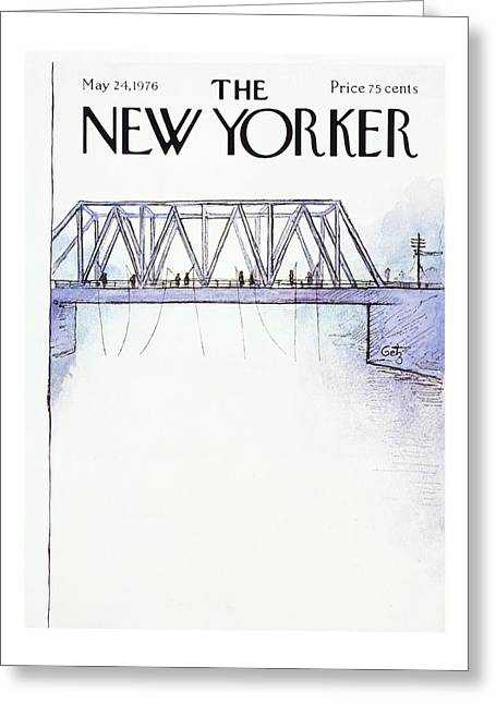 New Yorker May 24th 1976 Greeting Card by Arthur Getz