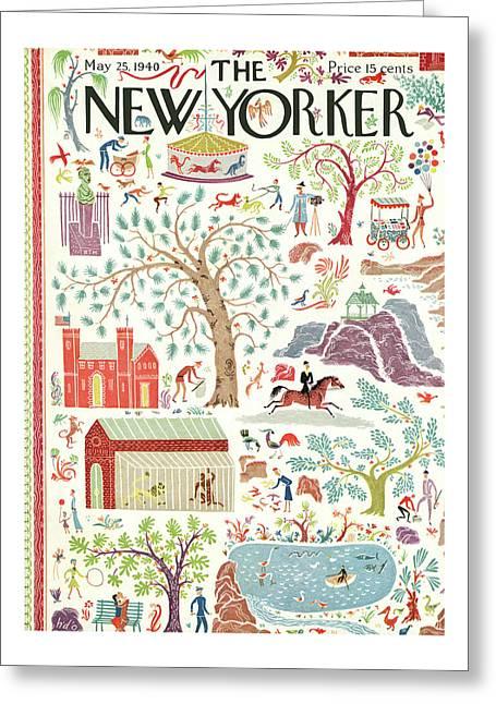 New Yorker May 25th, 1940 Greeting Card