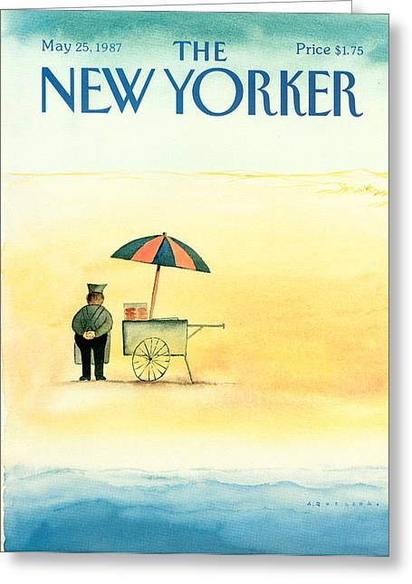 New Yorker May 25th, 1987 Greeting Card by Abel Quezada