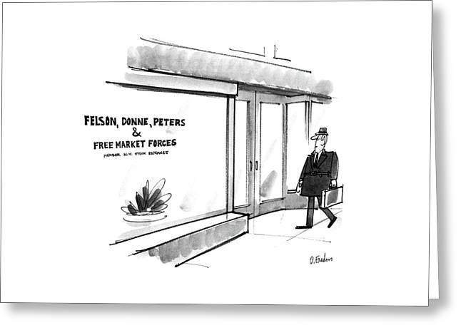 New Yorker May 26th, 1986 Greeting Card