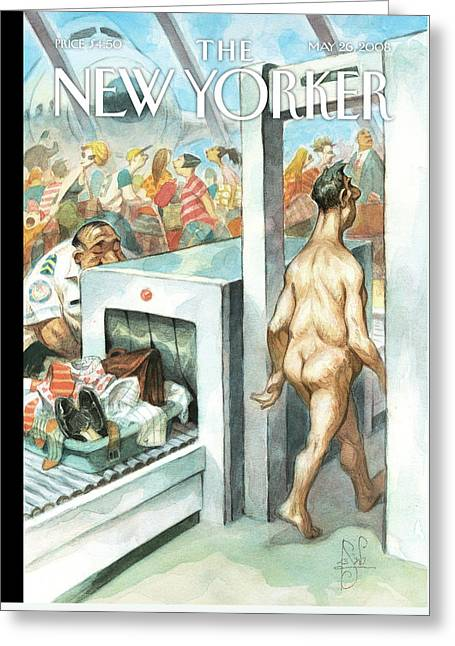 New Yorker May 26th, 2008 Greeting Card by Peter de Seve
