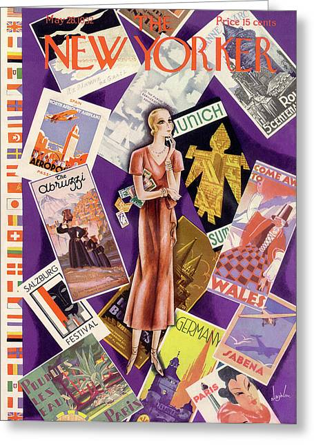 New Yorker May 28th, 1932 Greeting Card by Constantin Alajalov