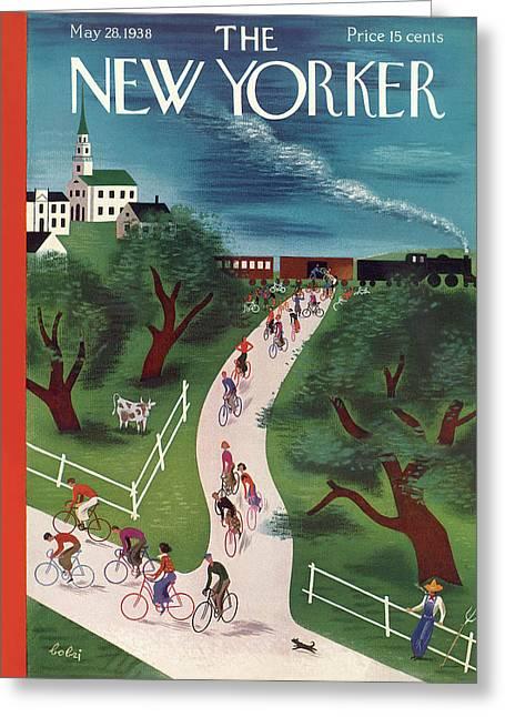 New Yorker May 28th, 1938 Greeting Card