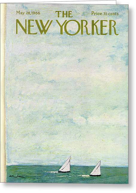 New Yorker May 28th, 1966 Greeting Card by Abe Birnbaum