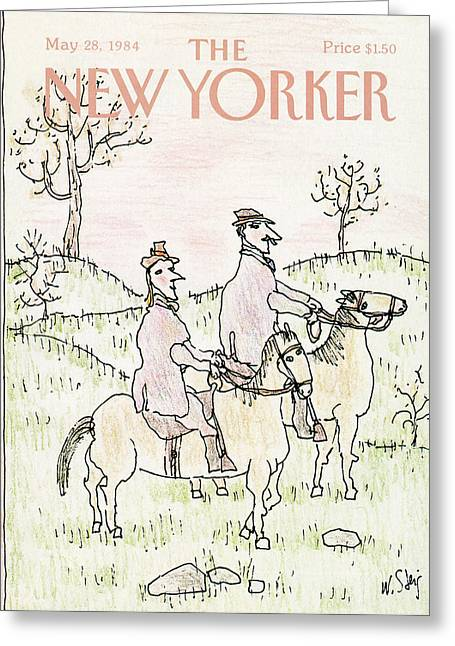 New Yorker May 28th, 1984 Greeting Card by William Steig