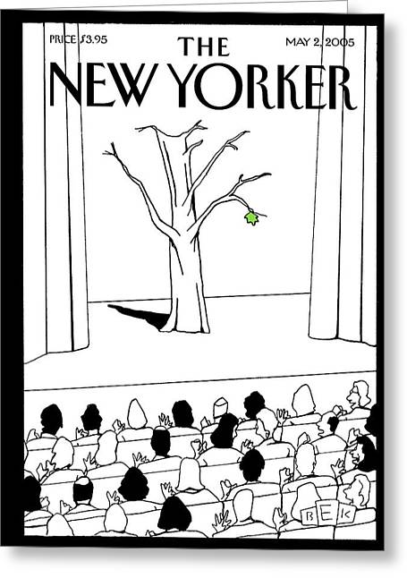 New Yorker May 2nd, 2005 Greeting Card