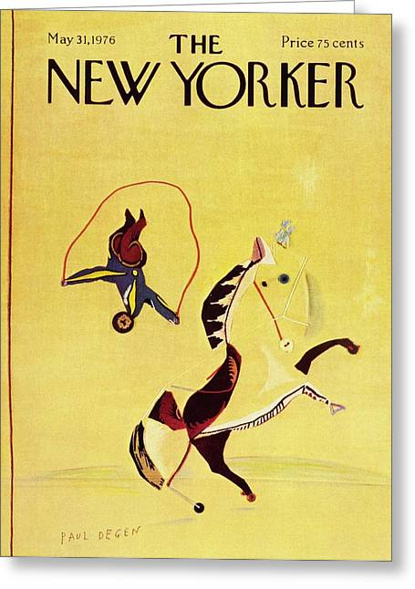 New Yorker May 31st 1976 Greeting Card by Paul Degen
