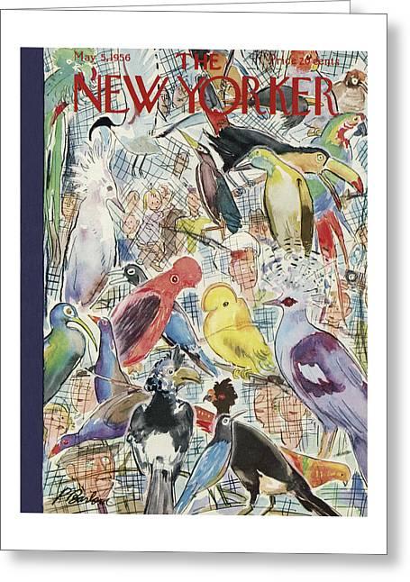 New Yorker May 5th, 1956 Greeting Card