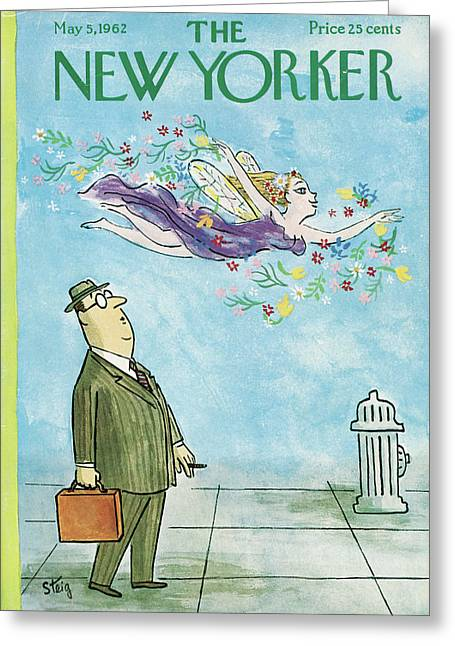 New Yorker May 5th, 1962 Greeting Card