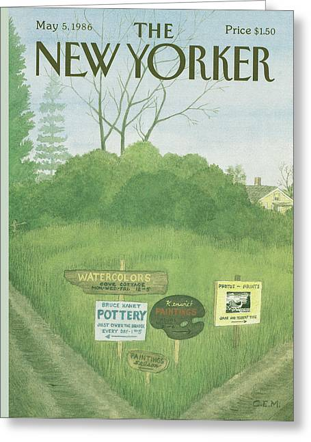 New Yorker May 5th, 1986 Greeting Card