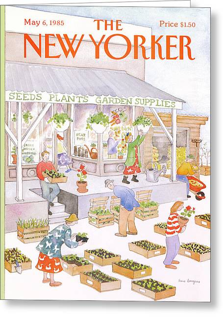 New Yorker May 6th, 1985 Greeting Card