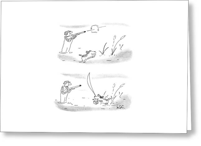 New Yorker May 7th, 1990 Greeting Card by Arnie Levin