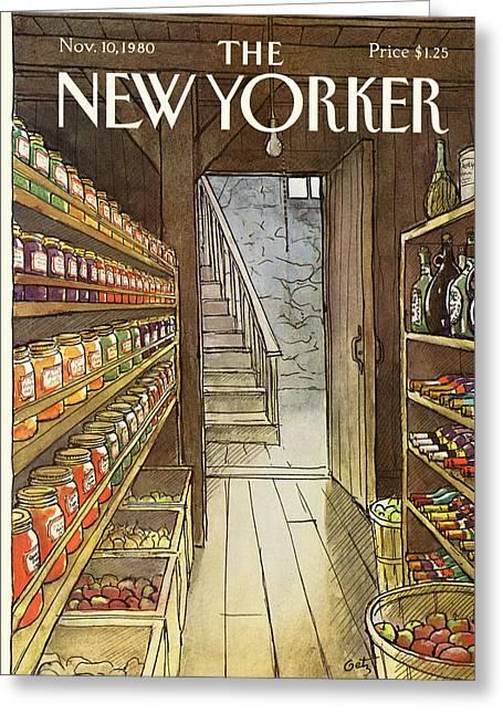 New Yorker November 10th, 1980 Greeting Card by Arthur Getz