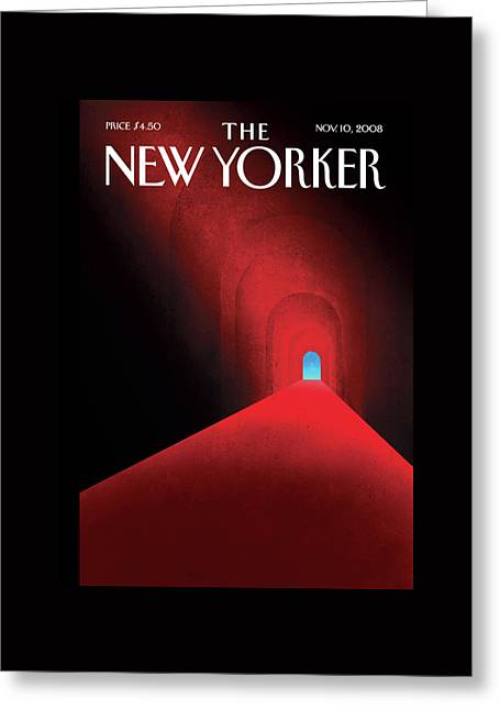 New Yorker November 10th, 2008 Greeting Card by Brian Stauffer