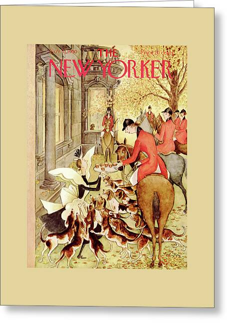 New Yorker November 11th, 1950 Greeting Card by Mary Petty
