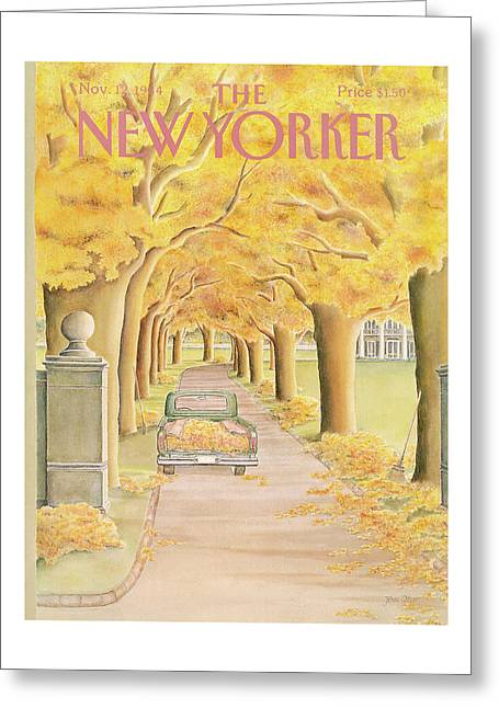 New Yorker November 12th, 1984 Greeting Card