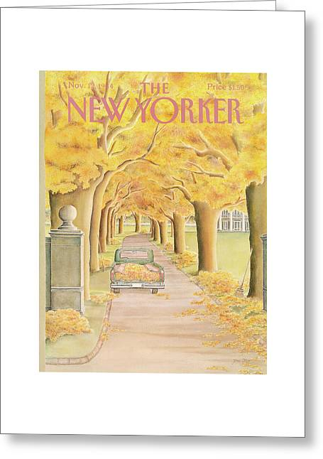 New Yorker November 12th, 1984 Greeting Card by Jenni Oliver