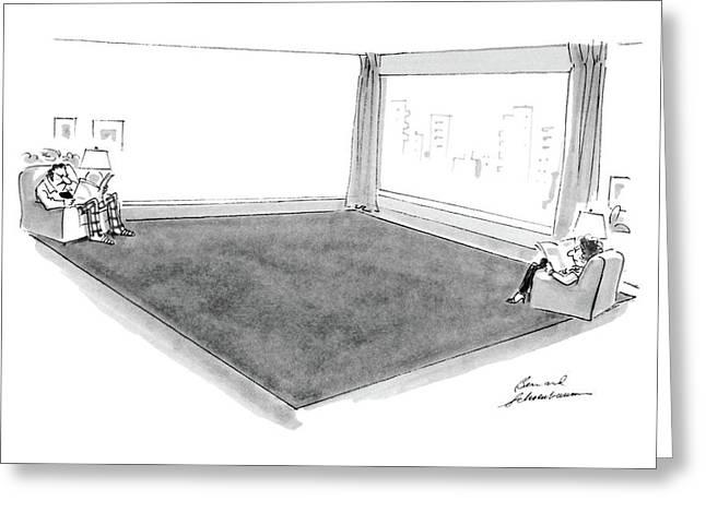 New Yorker November 14th, 1983 Greeting Card by Bernard Schoenbaum