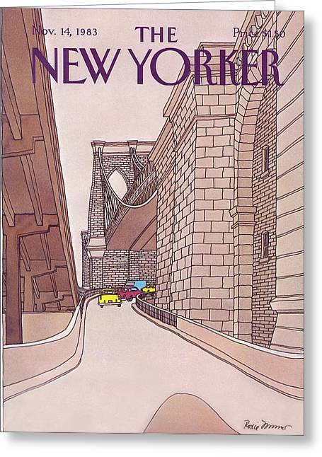 New Yorker November 14th, 1983 Greeting Card