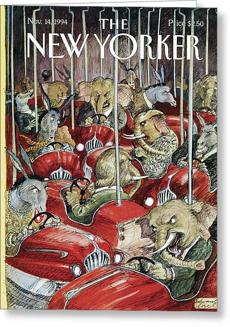 New Yorker November 14th, 1994 Greeting Card by Edward Sore