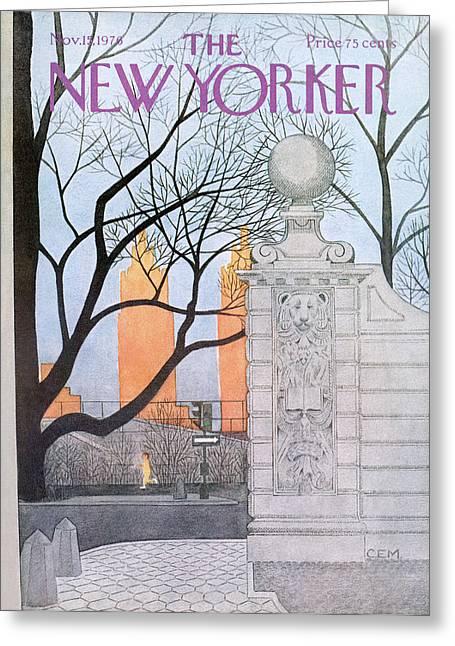 New Yorker November 15th, 1976 Greeting Card