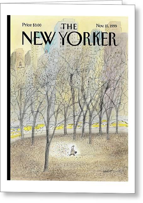New Yorker November 15th, 1999 Greeting Card