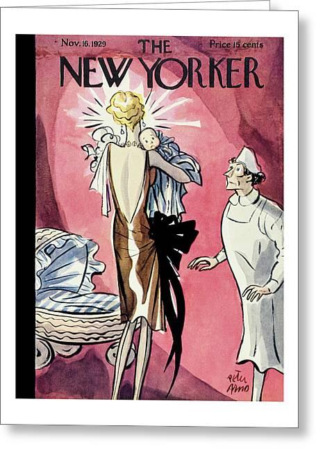 New Yorker November 16 1929 Greeting Card