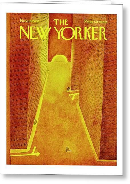 New Yorker November 16th 1968 Greeting Card