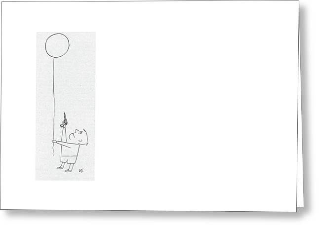 New Yorker November 17th, 1951 Greeting Card by Saul Steinberg