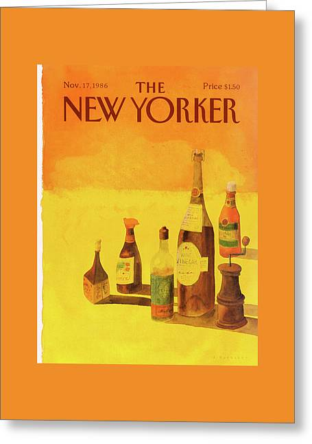 New Yorker November 17th, 1986 Greeting Card by Abel Quezada